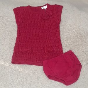 Cherokee cable knit sweater dress 6 to 9 months